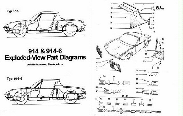 porsche 914 exploded part diagram  porsche  free engine