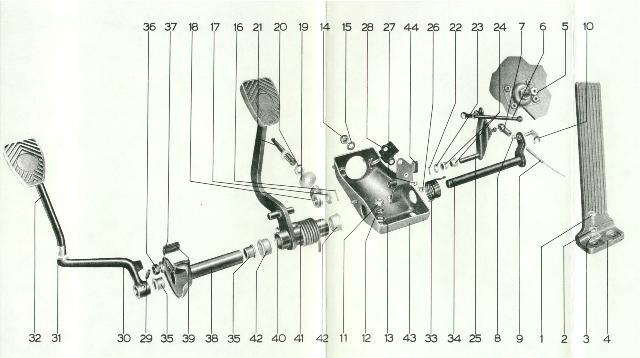 porsche 944 clutch pedal diagram