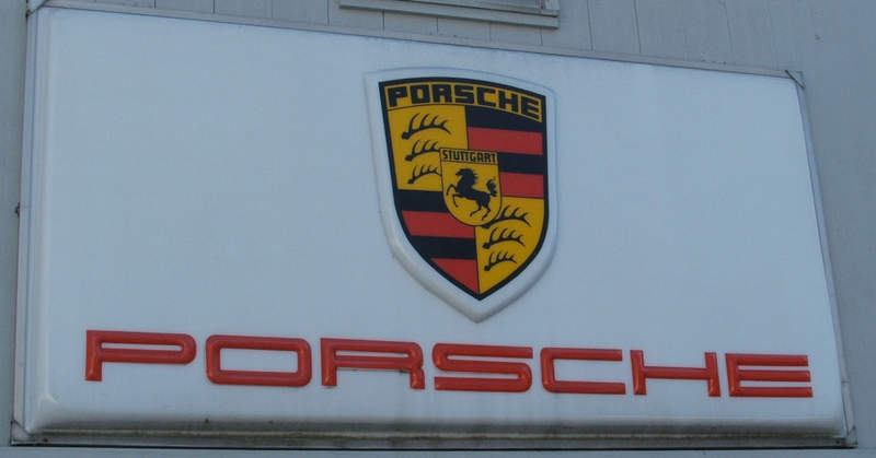FS Vintage Porsche Dealer Sign Pelican Parts Technical BBS - Vintage porsche dealer