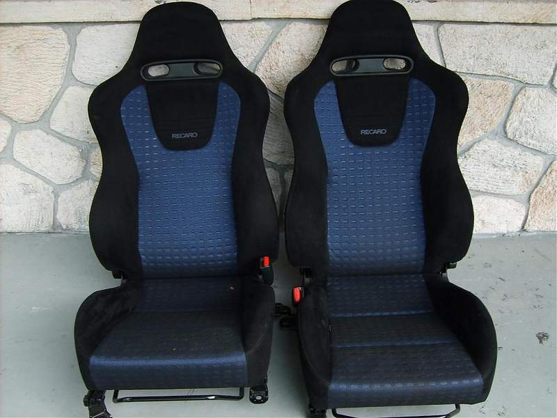 evo 8 recaro seats. Black Bedroom Furniture Sets. Home Design Ideas