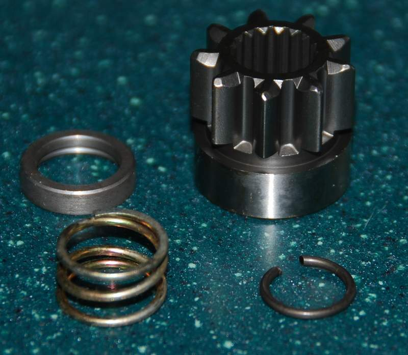 Starter pinion replacement pelican parts technical bbs for Starter motor pinion gear