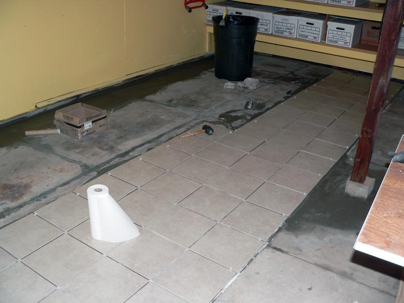 Laying Porcelain tile for garage floor - 6SpeedOnline ...