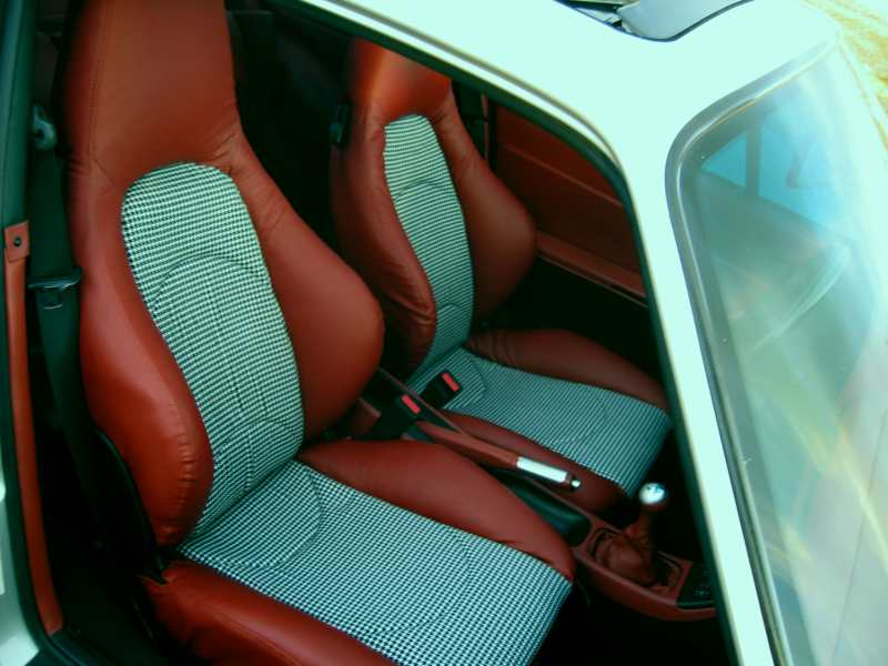 Ginger S Makeover Houndstooth Seats And 996 Twists
