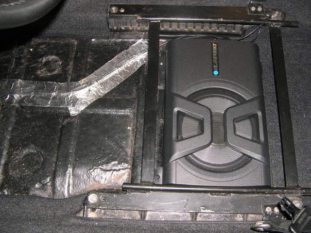 Installed Subwoofer Under Seat Pelican Parts Forums