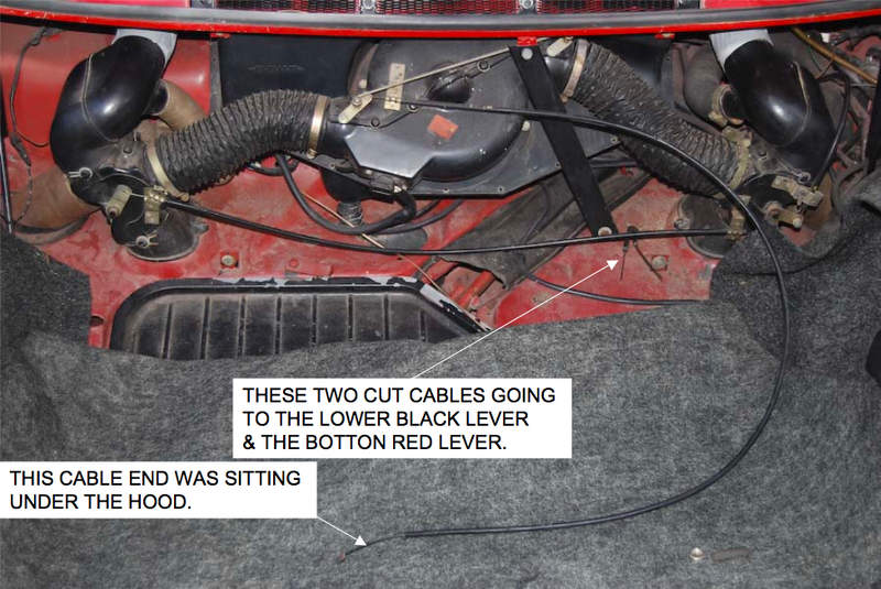 Heater Vent Control Cables On A 76 Pelican Parts