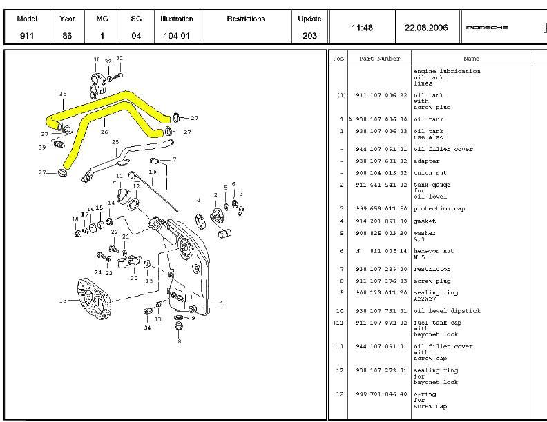 Engine Crankcase Hoses