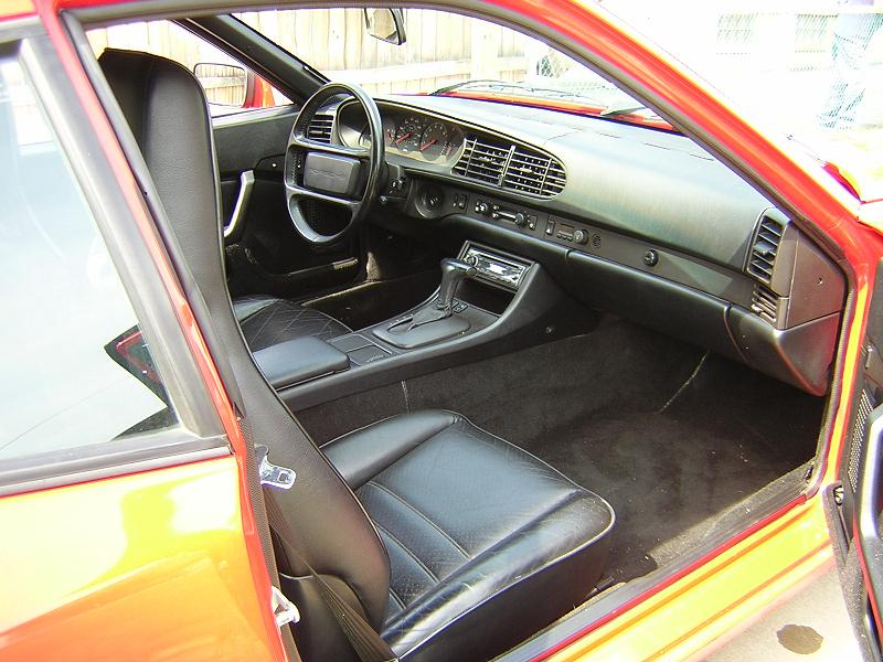 1987 porsche 944 automatic lipstick red black for Porsche 944 interieur
