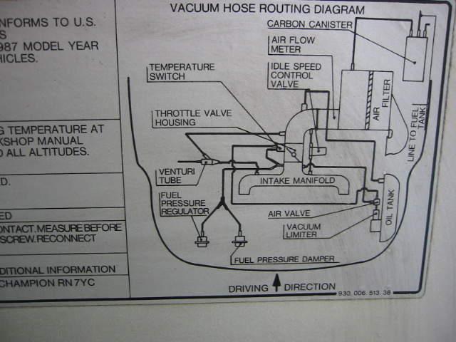 Need 86 3 2l Carrera Vacuum Line Diagram