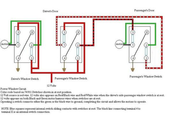 Power Window Motor Wiring Diagram Motor Repalcement Parts And