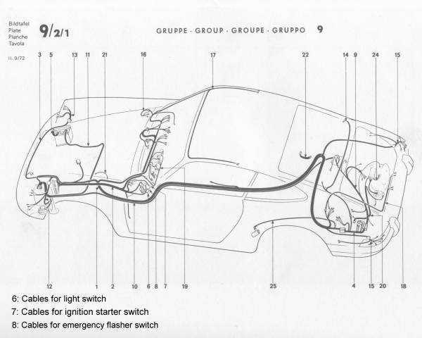 current flow to headlights in  u0026 39 73 911
