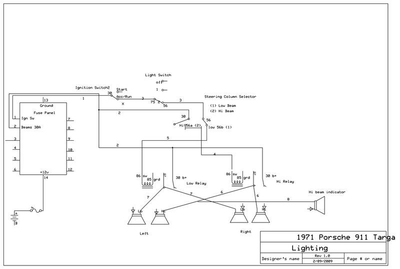 1971 porsche 911 wiring diagrams