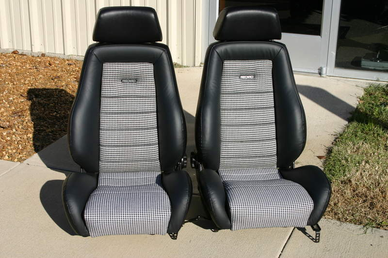 Fs Recaro Seats Finished In Houndstooth Pelican Parts