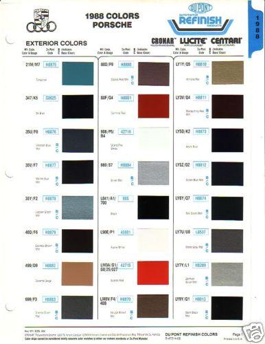 Top Five Rarest 3 2 Carrera Colors Pelican Parts