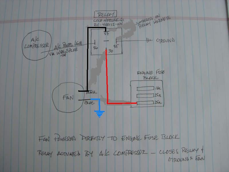 rear condenser fan wiring relay help pelican parts forums. Black Bedroom Furniture Sets. Home Design Ideas