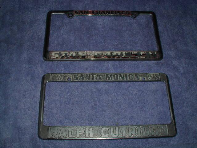 Wtb Vintage So Cal Dealer License Plate Frame Pelican