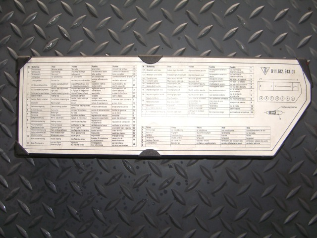 fuse diagram 2009 porsche carrera cabriolet carrera fuse box cover with insert - pelican parts forums volkswagen cabriolet fuse diagram