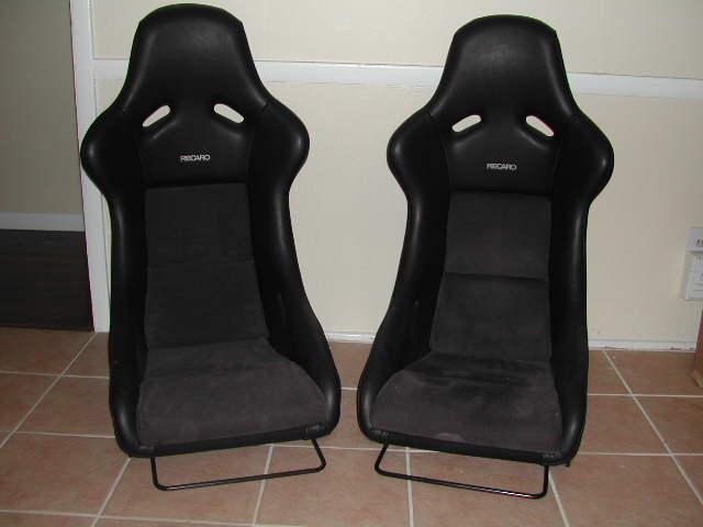 pair of recaro pole position seats in dallas pelican. Black Bedroom Furniture Sets. Home Design Ideas