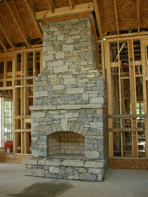 Tennessee Fieldstone Fireplace : Need some ideas for a fireplace facelift project pelican