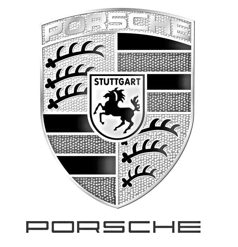 porsche logo black and white. porsche logo black and white