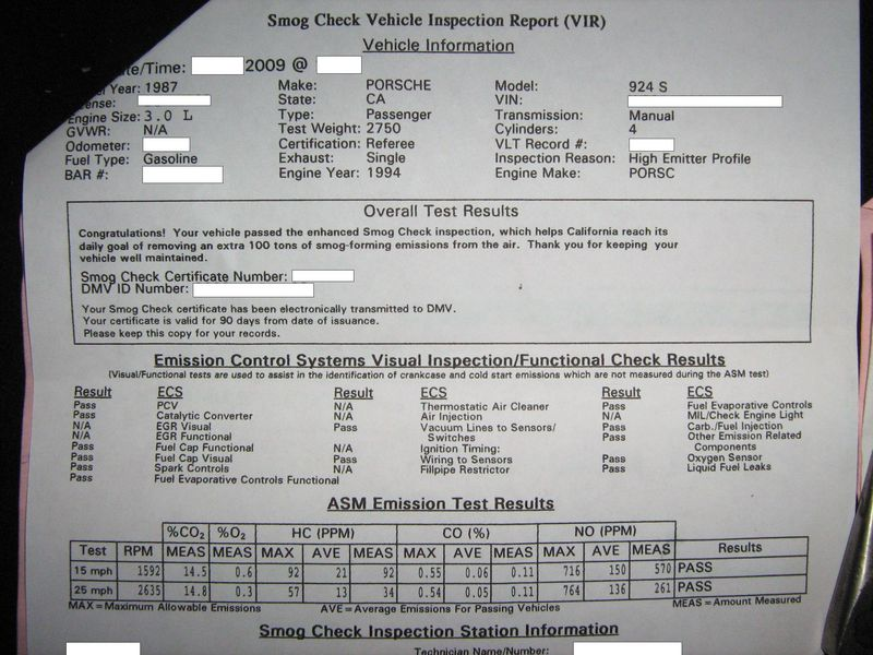 Passing CA Smog 968 write up - Pelican Parts Forums