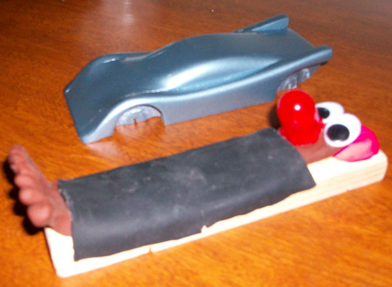 shoe pinewood derby