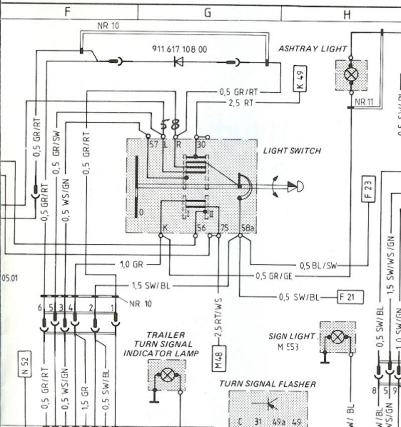 fuse diagram 1989 911 porsche