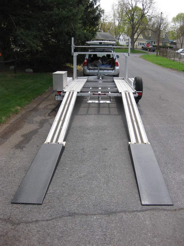 Diy car trailer ramps diy projects for Metal craft trailers parts