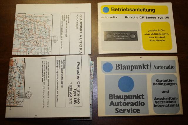 1980 us porsche blaupunkt radio manual and wiring diagrams. Black Bedroom Furniture Sets. Home Design Ideas