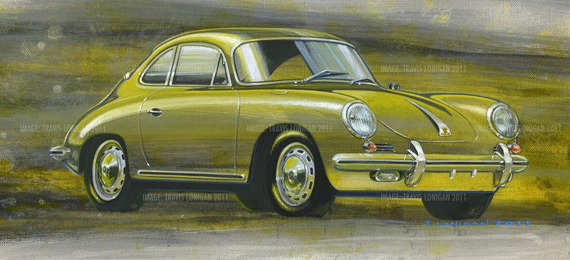 Fs 1963 Porsche 356c Sc Painting Prints Available