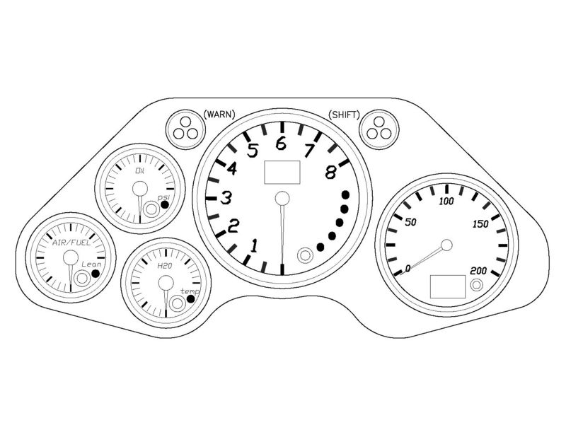 custom gauges  dash for porsche race cars