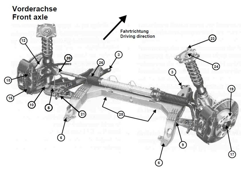 porsche 993 rear suspension diagram