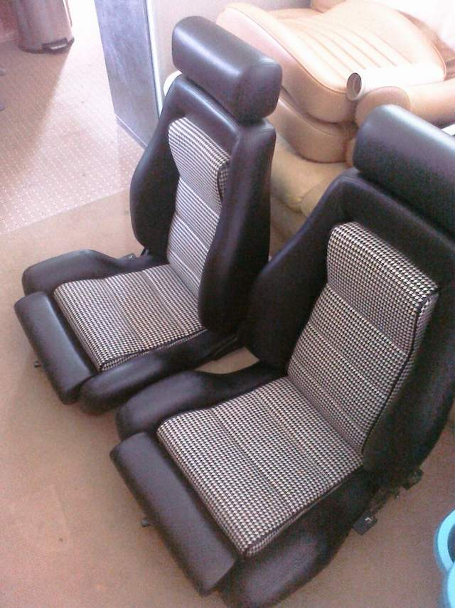 Pair of Recaro LS (?) Seats - Newly recovered in black ...