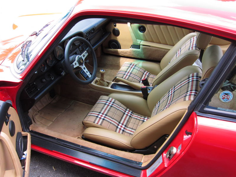 Post your unusual 911 interior color here page 3 - Burberry fabric for car interior ...