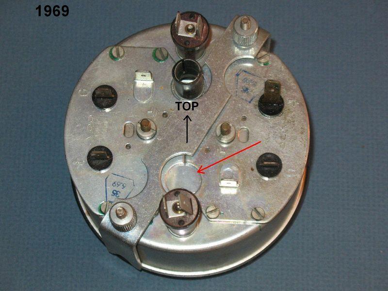 oil pressure warning light on 1969