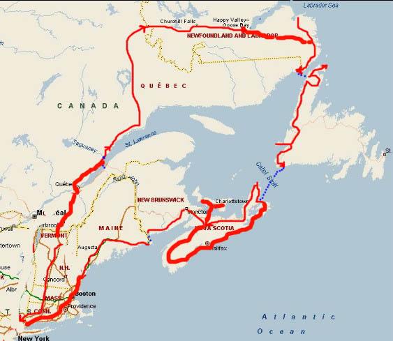 Trans Labrador Newfoundland Nova Scotia Ride Report