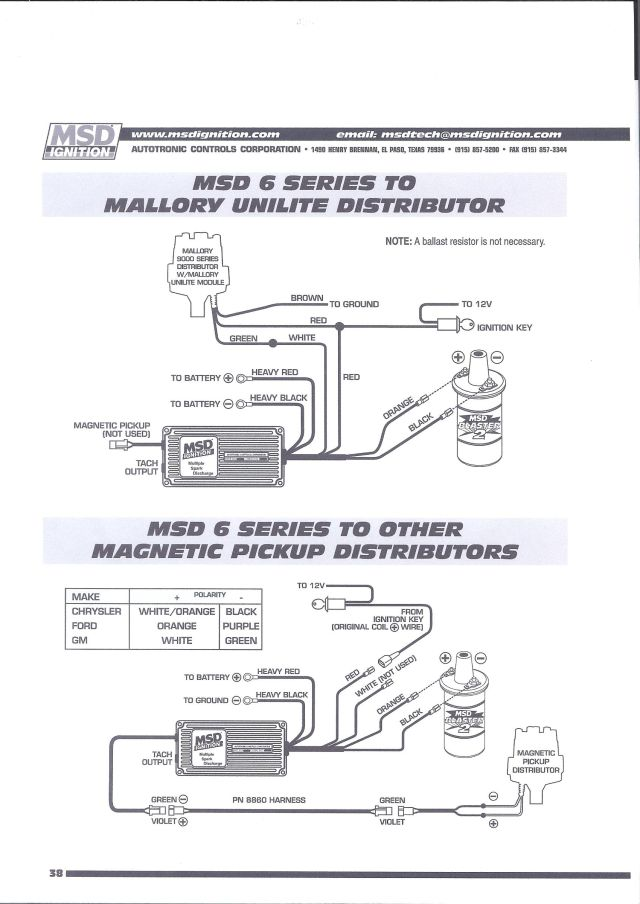 Msd 6420 Wiring Diagram - wiring diagrams schematics
