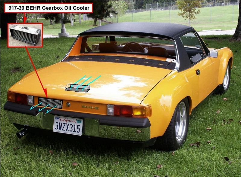 ANY IDEAS? 917 GEARBOX OIL COOLER in a 914-6 GT - Pelican Parts Forums