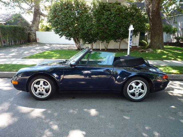 1998 porsche 993 cabriolet ocean blue on classic grey. Black Bedroom Furniture Sets. Home Design Ideas