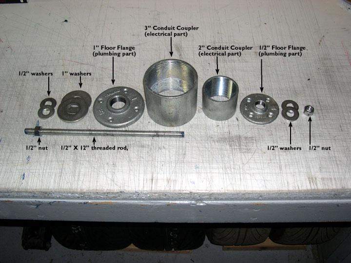 Bearing Puller Tool Lowes : Bearing press hub puller for subaru pelican parts
