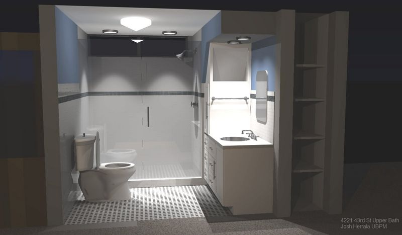 Recent Bathroom I Workedworking On I Used Google Sketchup With Idx  Renditioner For Lighting   Google