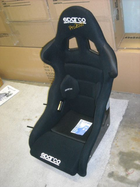 Fs Nos Sparco Pro 2000 Seat W Mount And Slider Pelican