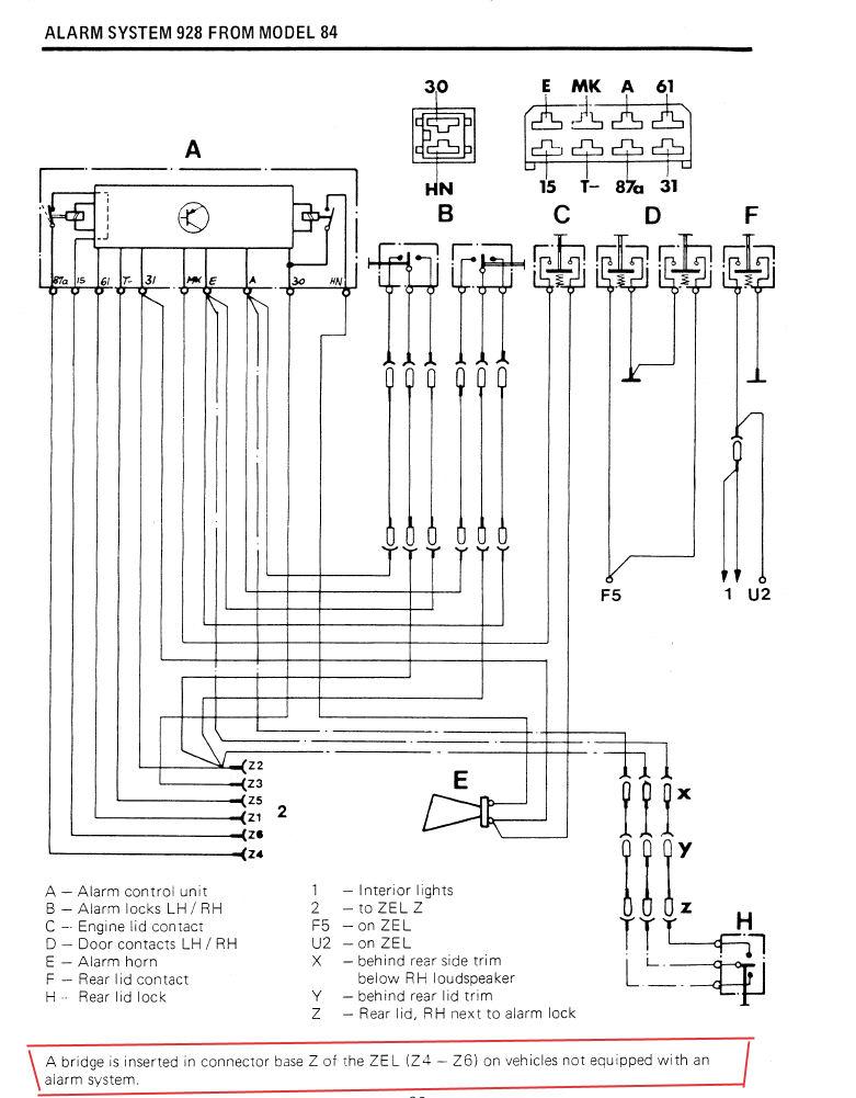 85 Saab 900 Turbo Alarm Diagram