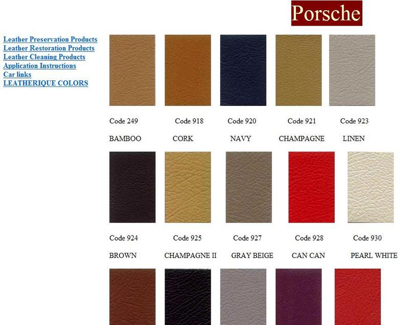 I Am Trying To Determine The Color Of Seats And Door Panels For My 1988 911 Targa Exterior Paint Is Veian Blau Which Also