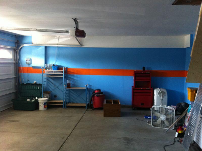 D co garage gulf - Peinture mur garage ...