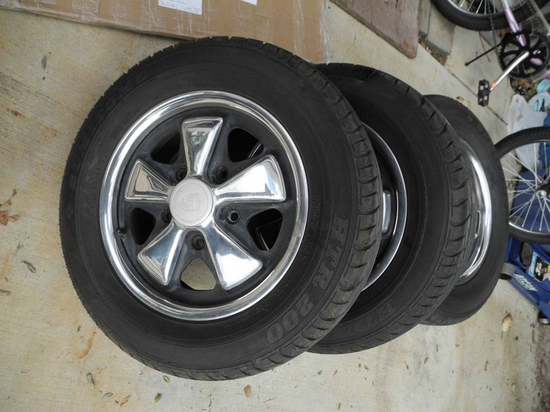 FS Set Of Four 911 912 Porsche Fuch Replica Wheels