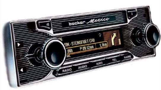 Retro style car stereo