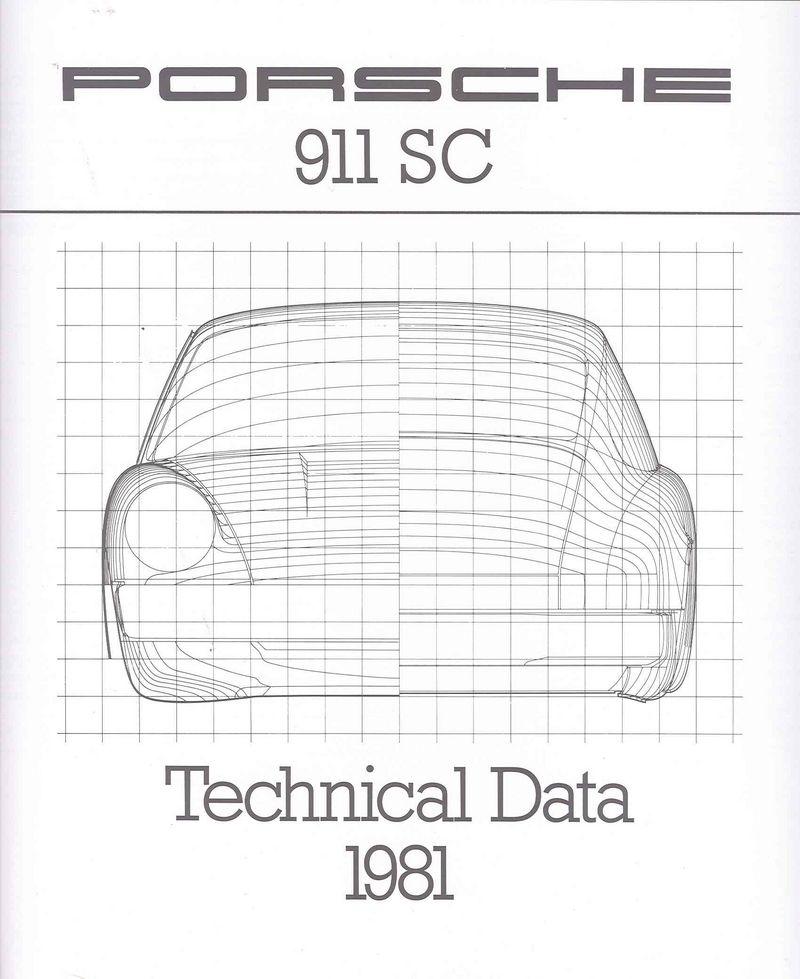 1981 911sc 34p brochures w   four pg tech data sheet