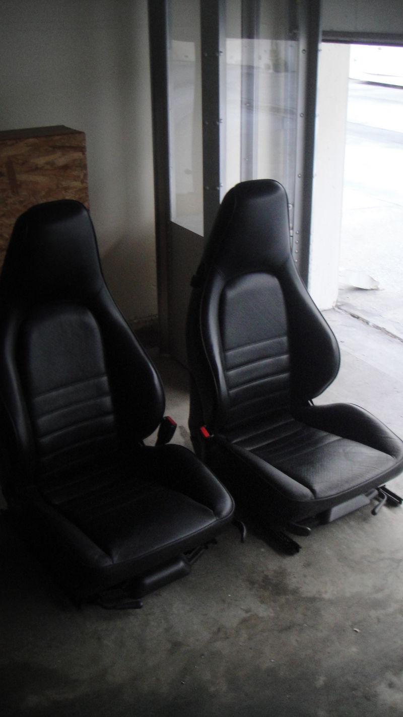 Porsche 964 911 Black Sport Seats Pelican Parts