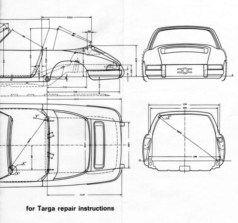 Early Targa Body Dimensions Page