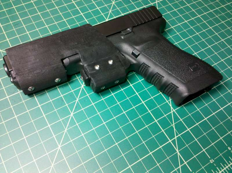 A holster I made for my Glock 21/ x300 weapon light,... - Firearm Accessories & Gear